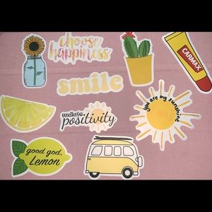 Yellow 10 pack of stickers